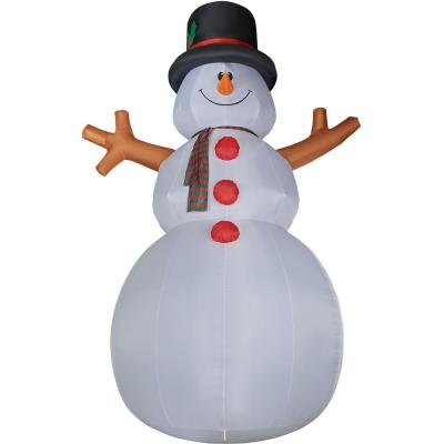 20 ft. Jolly Snowman Christmas Inflatable with Lights