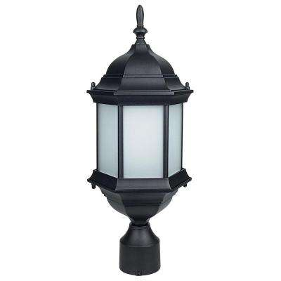 Oates 1-Light Black Outdoor Post Lantern