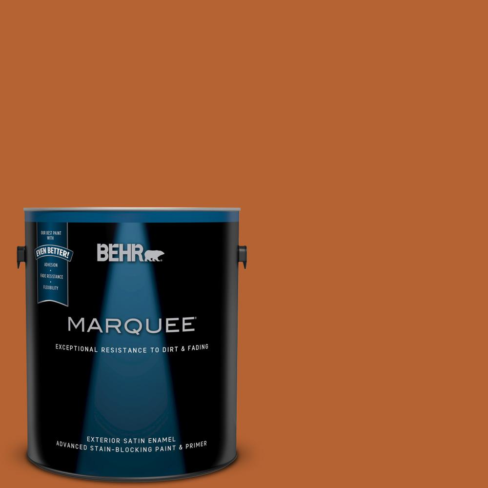 Behr Marquee 1 Gal 250d 7 Caramelized Orange Satin Enamel Exterior Paint