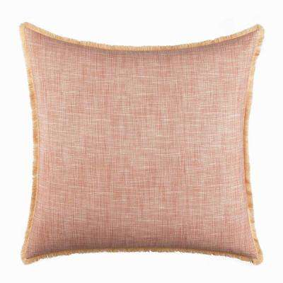 Sunrise Stripe Coral European Sham