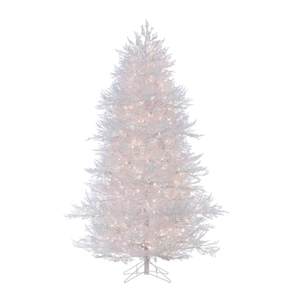 lightly flocked white twig artificial christmas tree with 650 clear lights