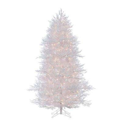 7 ft. Lightly Flocked White Twig Artificial Christmas Tree with 650 Clear Lights