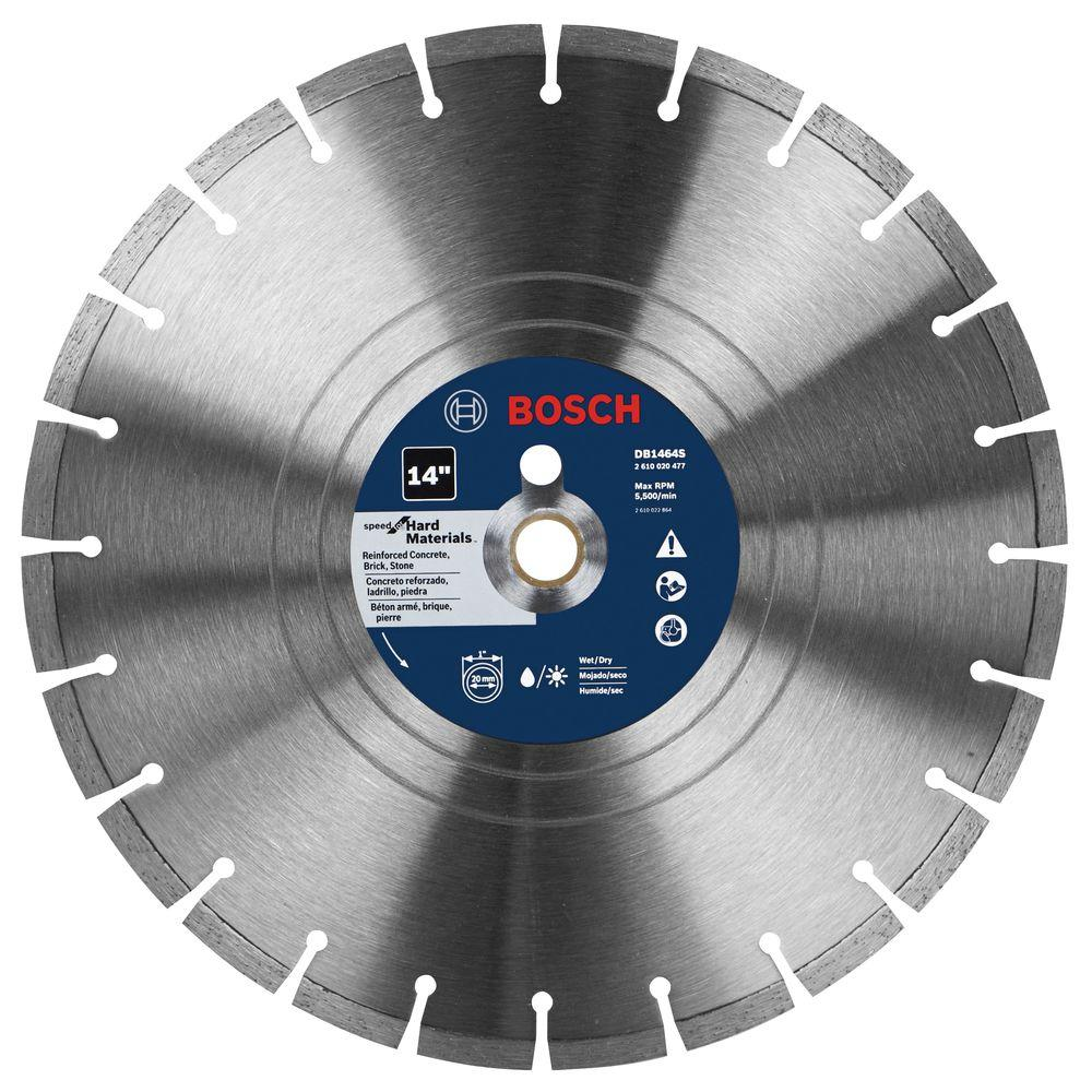 Bosch diamond blades saw blades the home depot premium plus hard diamond saw blade for cutting concrete granite or greentooth Image collections