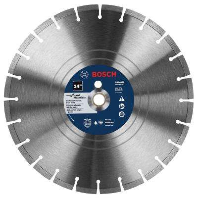 14 in. Premium Plus Hard Diamond Saw Blade for Cutting Concrete, Granite, or Brick