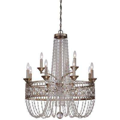 Lucero 15-Light Florentine Silver Chandelier