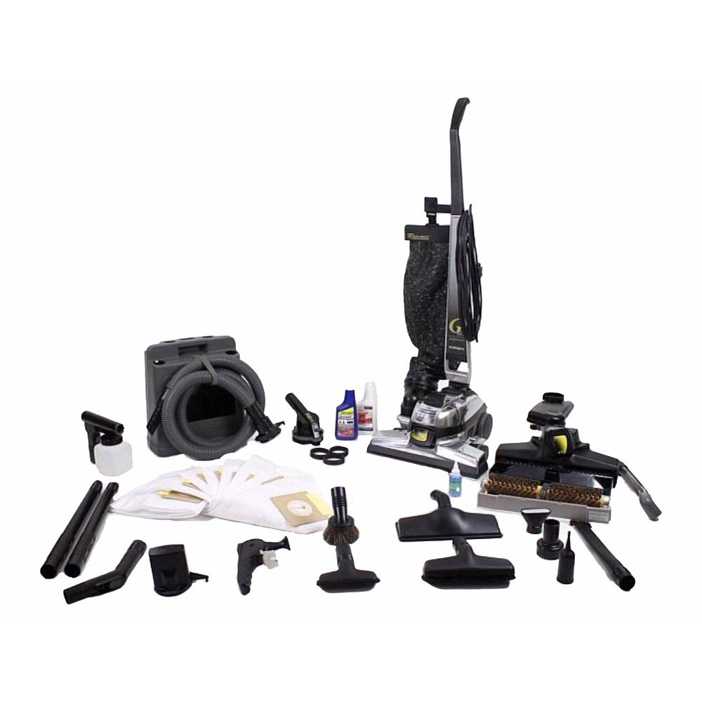 Reconditioned Kirby Upright G6 Vacuum Cleaner Loaded With Tools Shampooer And Floor Buffer Hepa Bags Pet 137 The Home Depot