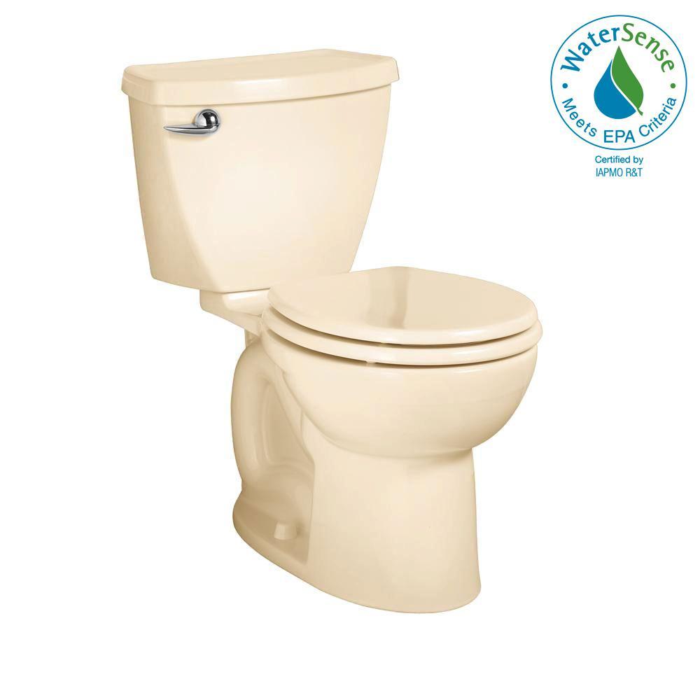 Cadet 3 Powerwash 2-piece 1.28 GPF Single Flush Round Toilet in Bone