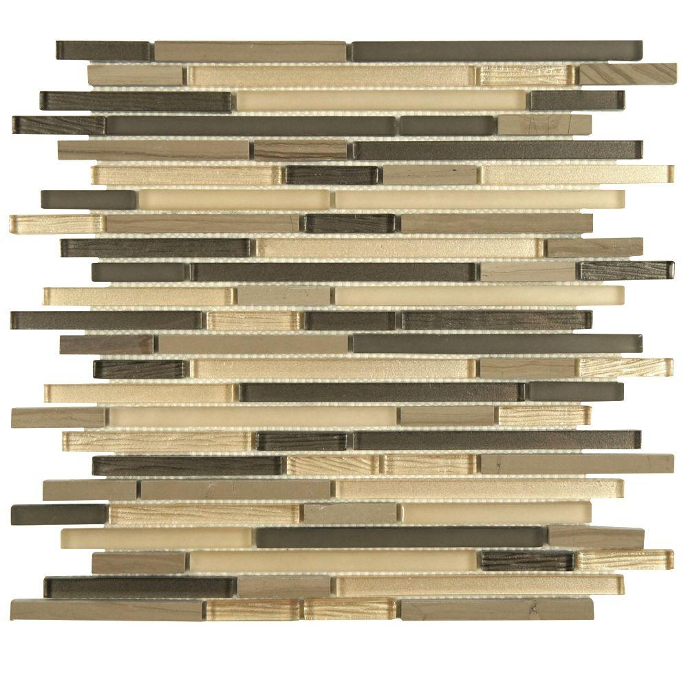 Merola Tile Tessera Mini Piano Mountain 11-3/4 in. x 11-3/4 in. x 6 mm Glass and Stone Mosaic Tile