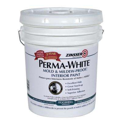 Perma-White 5 gal. Mold & Mildew-Proof Eggshell Interior Paint