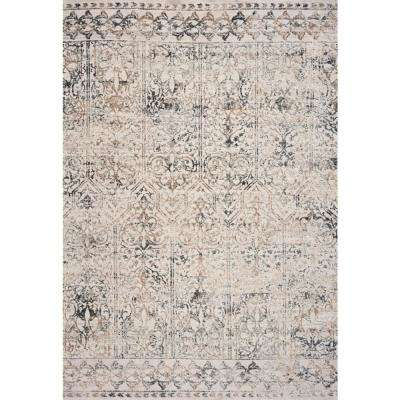 Empire Grey Marrakesh 3 ft. x 5 ft. Vintage Area Rug