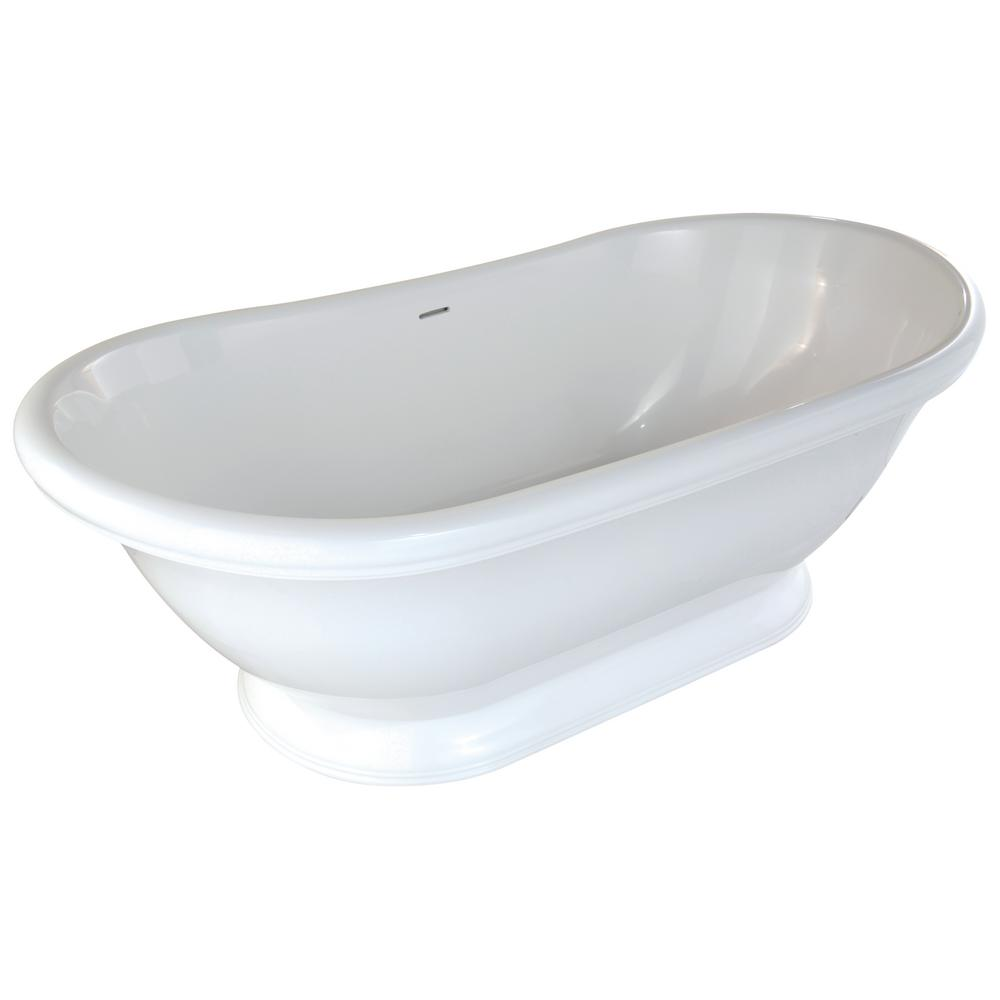 Georgetown 6 ft. Solid Surface Flat Bottom Whirlpool Freestanding Air Bath