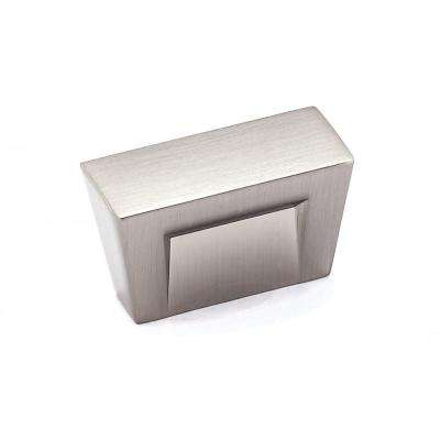 Contemporary 1-3/16 in. x 1/2 in. (30 mm x 13 mm) Brushed nickel Rectangular Cabinet Knob