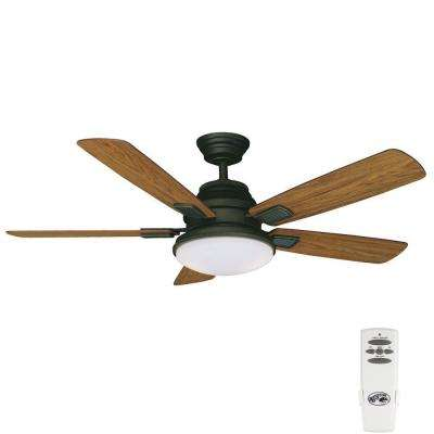Latham 52 in. Indoor Oil-Rubbed Bronze Ceiling Fan with Light Kit and Remote Control