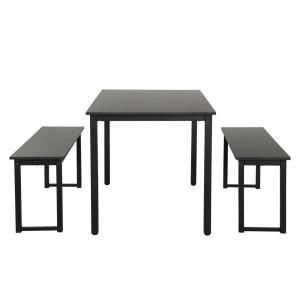 Outstanding Harper Bright Designs 3 Piece Black Dining Table Set With Gmtry Best Dining Table And Chair Ideas Images Gmtryco