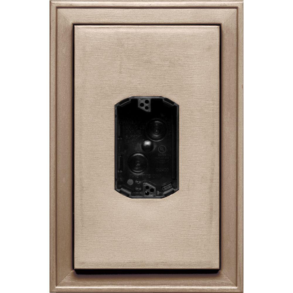 8.125 in. x 12 in. #023 Wicker Jumbo Electrical Mounting Block