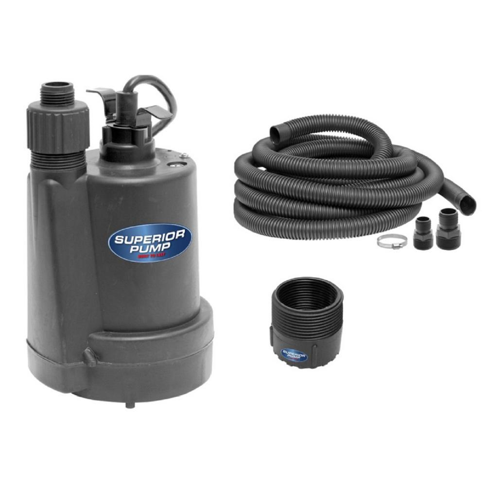 Pool Outdoor Flooding Water Drain Fully Submersible Thermoplastic Utility Pump