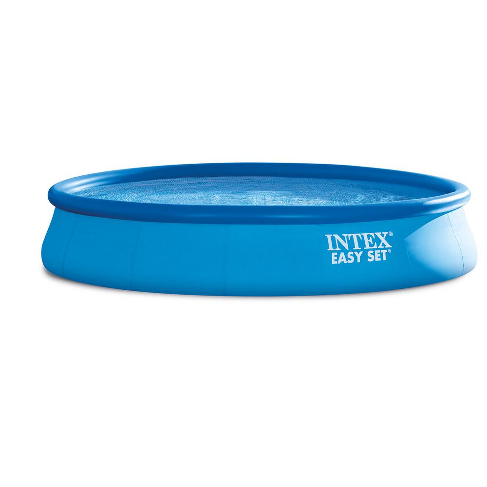 Intex Easy Set 15 ft. Round x 33 in. D Inflatable Pool with 530 GPH Filter  Pump