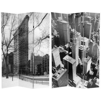 6 ft. Printed 3-Panel New York City Room Divider