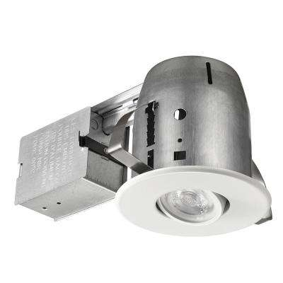 LED Directional 4 in. White Recessed Kit