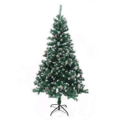 6 ft. Unlit Flocked Artificial Christmas Tree with Pine Cones