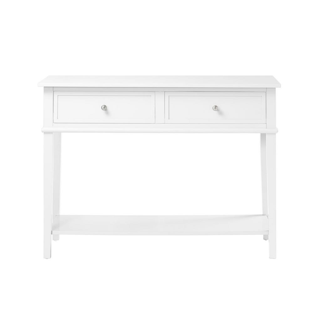 Queensbury White Sofa Table