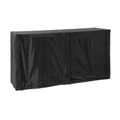 64 in. Black Outdoor Kitchen Prep Table Cover