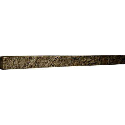 2 in. x 48-1/4 in. x 3 in. Grey Urethane Universal Trim for Stone and Rock Wall Panels
