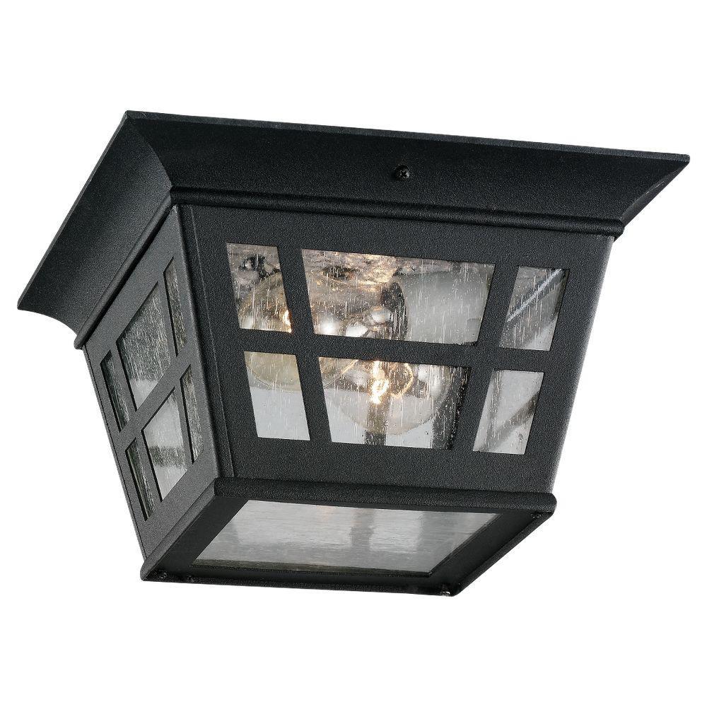 Herrington 2-Light Outdoor Black Flush Mount Fixture
