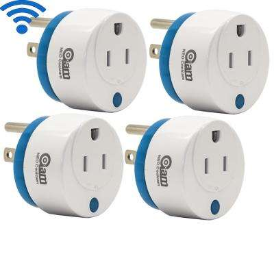Mini Round Wi-Fi Smart Plug Works with Alexa and Google Home for Voice Control Save Energy (4-Pack)