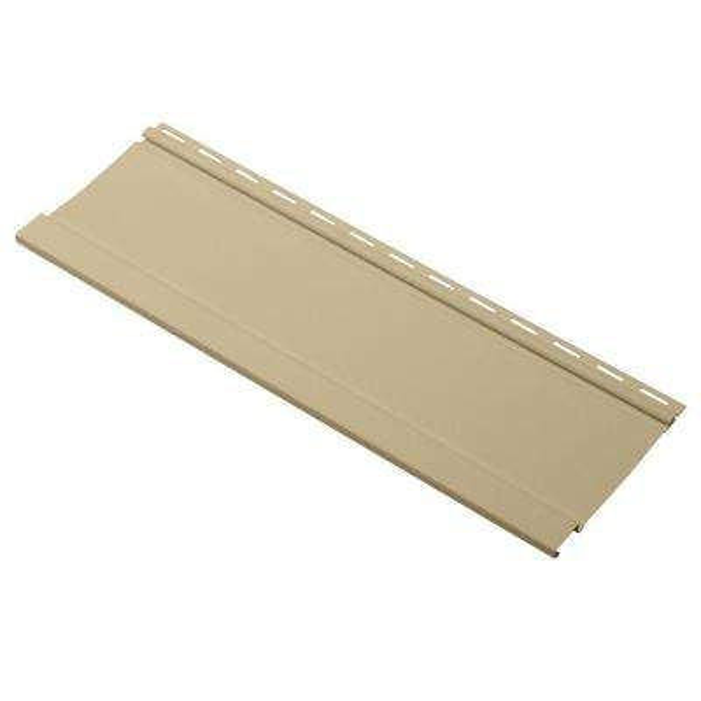Board and Batten 24 in. Vinyl Siding Sample in French Silk