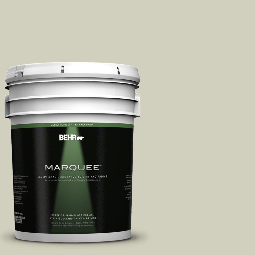 5-gal. #400E-3 Mountain Haze Semi-Gloss Enamel Exterior Paint