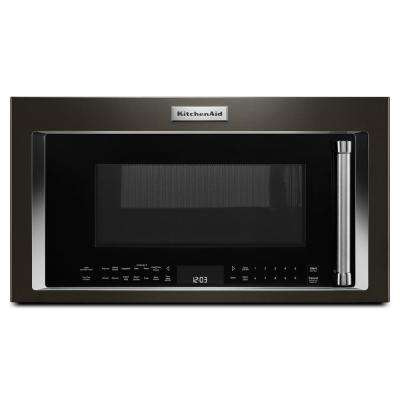 30 in. W 1.9 cu. ft. Over the Range Convection Microwave in Black Stainless with Sensor Cooking Technology