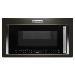 30 in. 1.9 cu. ft. Over the Range Convection Microwave in PrintShield Black Stainless w/ Sensor Cooking Technology