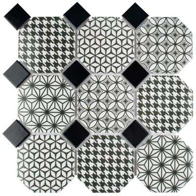 Misto 11-3/4 in. x 11-3/4 in. x 6mm Porcelain Mosaic Tile