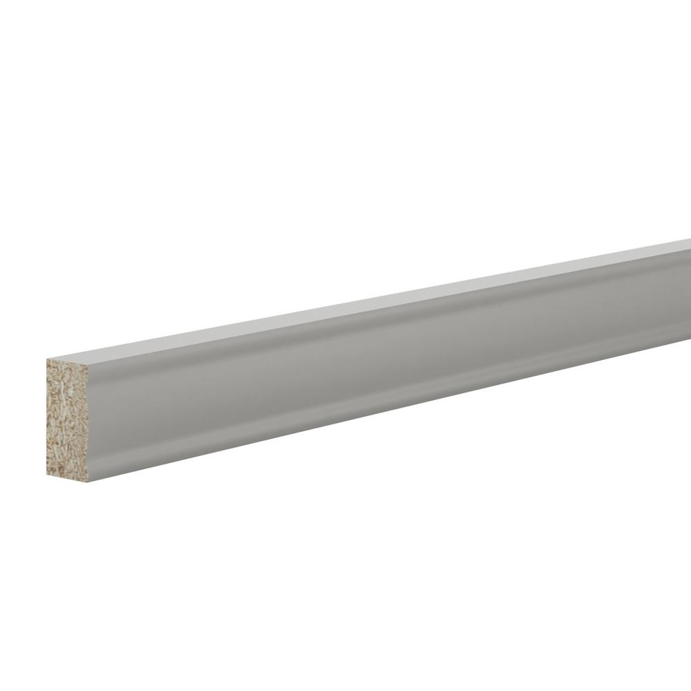 1.5 in. x 91.5 in. Deco Edge Molding in Warm Grey