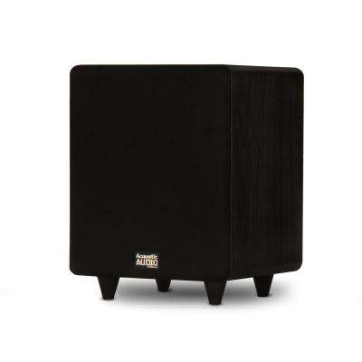 Home Theater Powered 8 in. LFE Subwoofer Front Firing Sub
