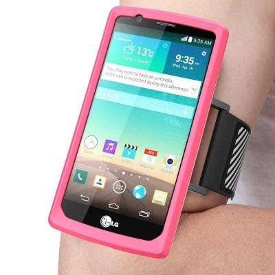 Sport Armband and Flexible Case for LG G4, Pink