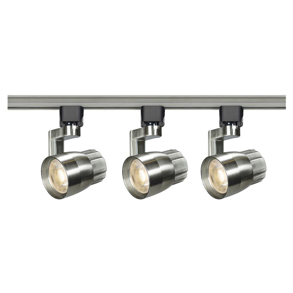 4 ft. Brushed Nickel Integrated LED Track Lighting Kit