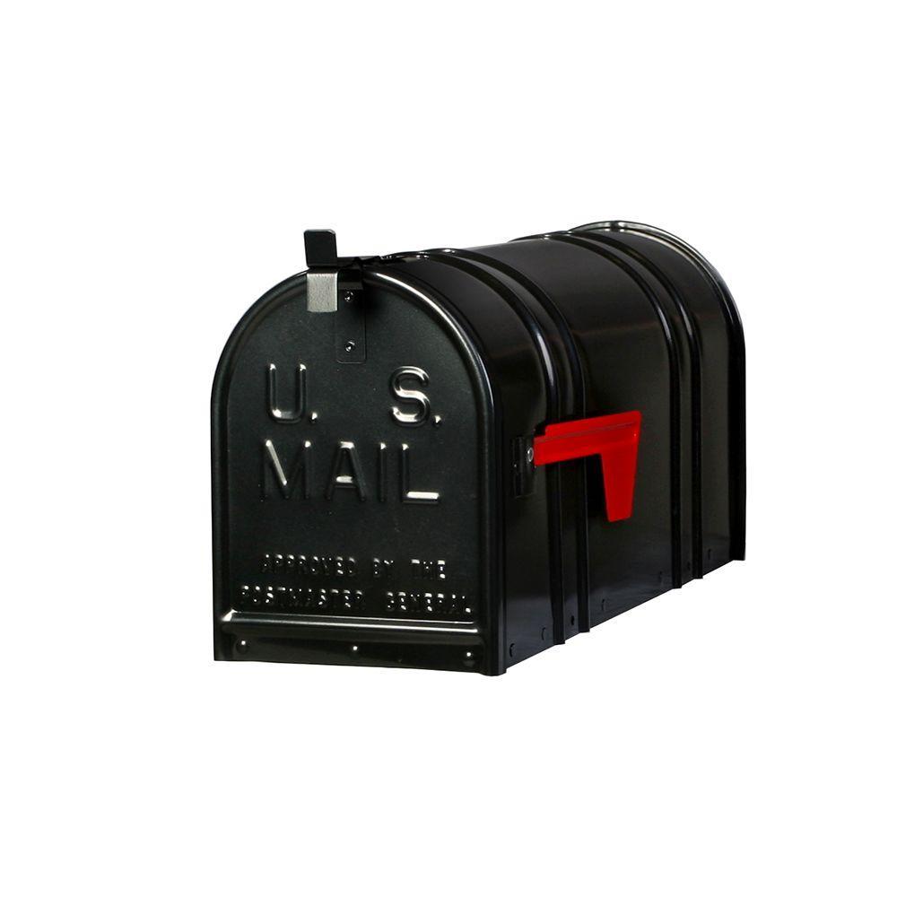 Postal Pro Carlton Post-Mount T2 Mailbox, Black