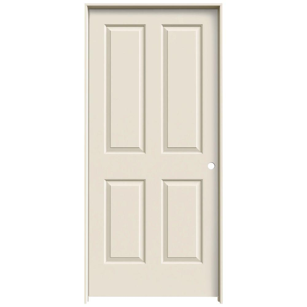 36 in. x 80 in. Coventry Primed Left-Hand Smooth Molded Composite