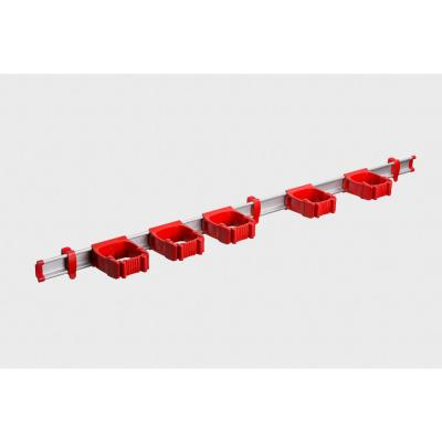 37 in. Red Garage, Garden and Sports Tool Organizer with 5 One-Size-Fits-All Tool Holders