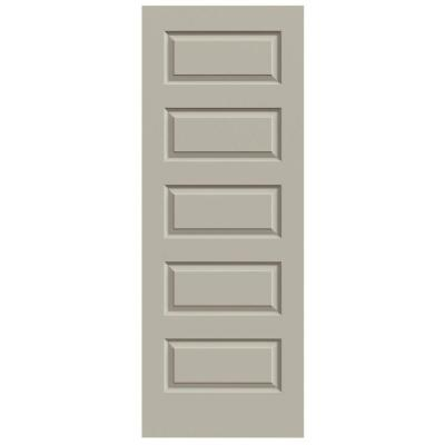 30 in. x 80 in. Rockport Desert Sand Painted Smooth Molded Composite MDF Interior Door Slab