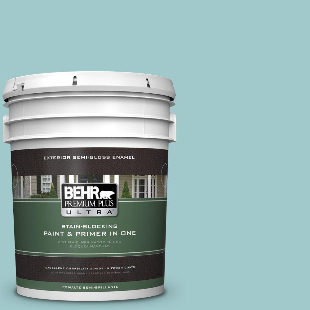5 gal. #HDC-SP16-08 Blue Bell Semi-Gloss Enamel Exterior Paint