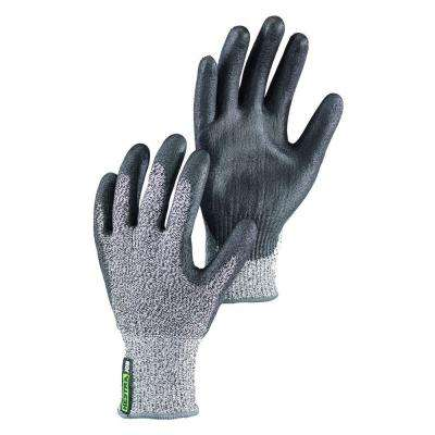 Galli Cut Size 9 Large Tear Resistant PU Dipped Breathable Nylon Glove in Grey