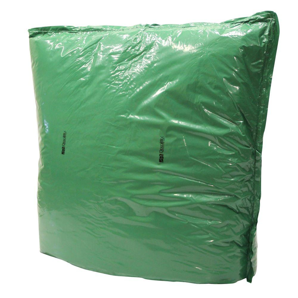 Dekorra 60 in. L x 48 in. H Large Fiberglass Encapsulated Green Plastic Insulation Pouch