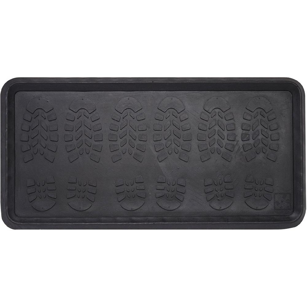 Footsteps Durable 32 in. x 16 in. Commercial/Residential Rubber Boot Tray