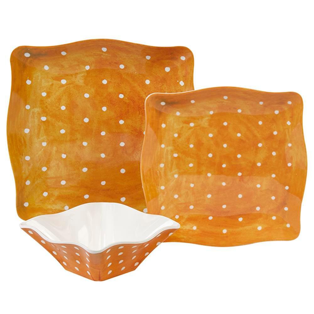 Pallini 12-Piece Yellow Melamine Dinnerware Set