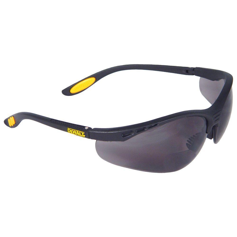 DeWALT Safety Glasses Reinforcer RX 2.5 Diopter with Smok...