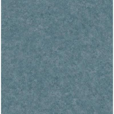 Cielo Blue Distressed Texture Wallpaper Sample