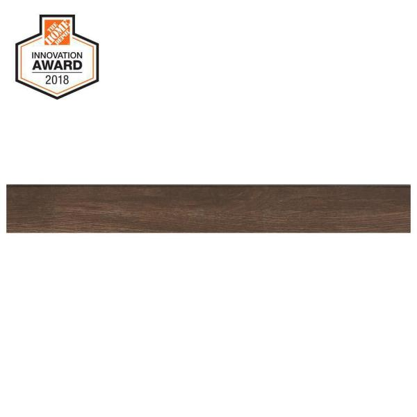 Autumn Wood 3 in. x 24 in. Glazed Porcelain Bullnose Floor and Wall Tile (0.48 sq. ft. / piece)